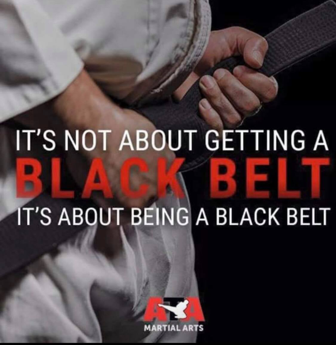 Being A Black Belt
